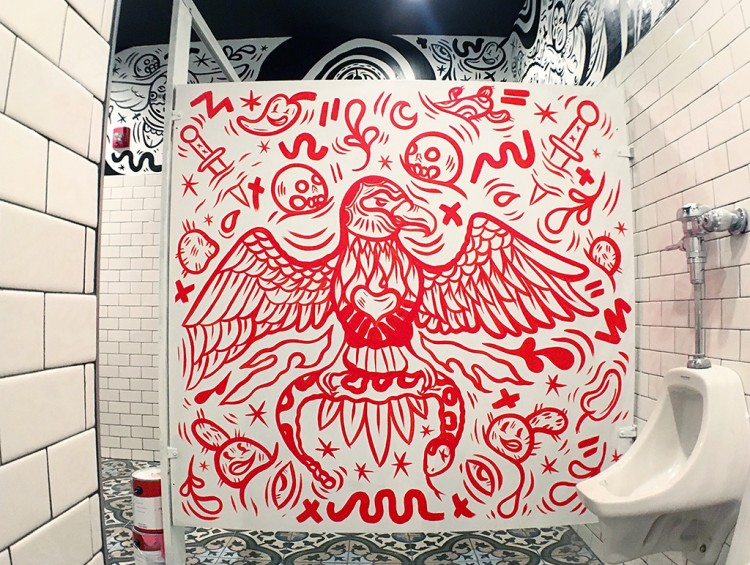 Free-Flowing Doodles On Walls And Stalls | Doodlers Anonymous