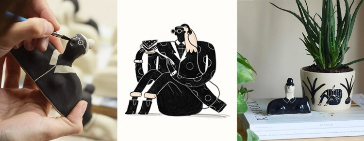 From Doodles To Real Life: A Fusion of Ceramics and Illustration | Doodlers Anonymous