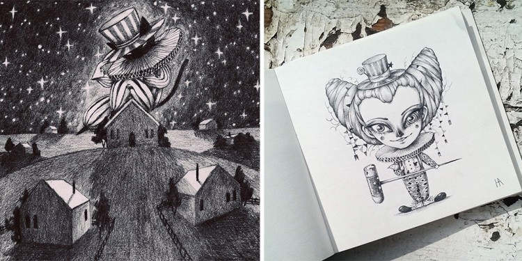 Circus Creatures From The Moon | Doodlers Anonymous