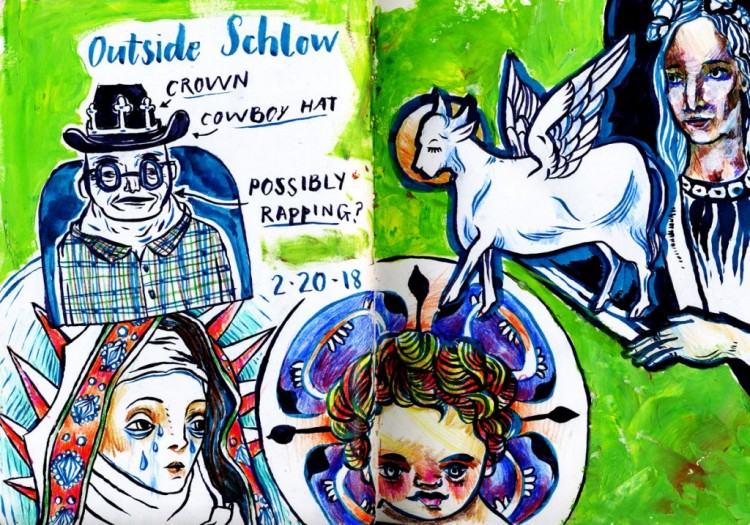 The Vibrant and Silly Sketchbook of Leah Lucci | Doodlers Anonymous