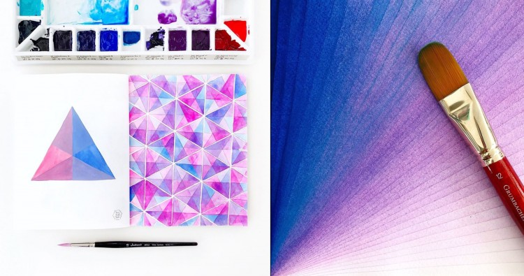 Highly Satisfying, Mathematically Perfect Watercolors | Doodlers Anonymous