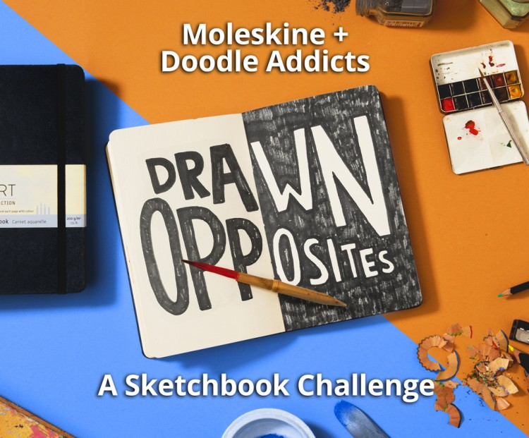 Now Accepting Submissions: Drawn Opposites - A Sketchbook Challenge | Doodlers Anonymous