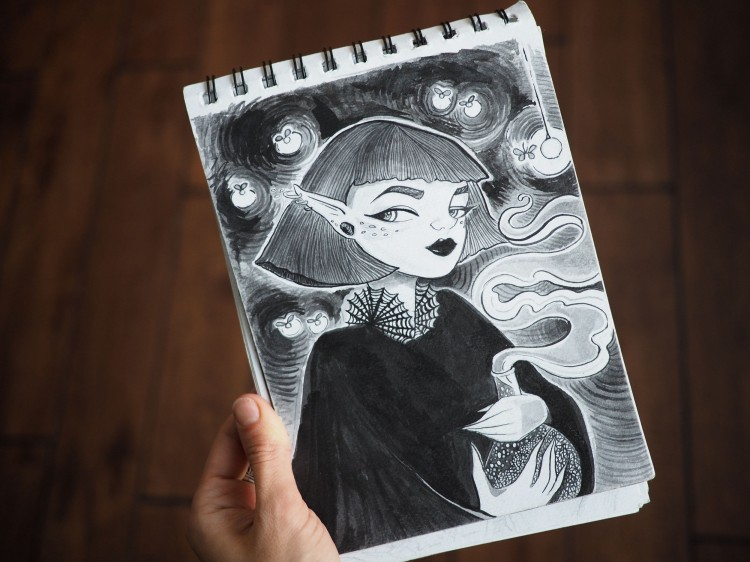 Inky Illustrations: Ordinary Meets Mystical | Doodlers Anonymous