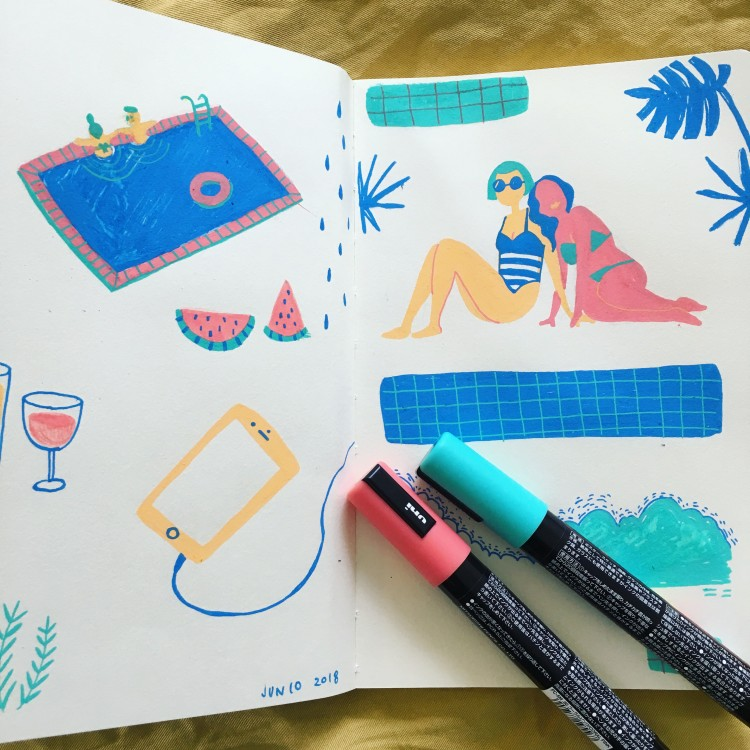 Summertime Sketching & The Livin's Easy | Doodlers Anonymous