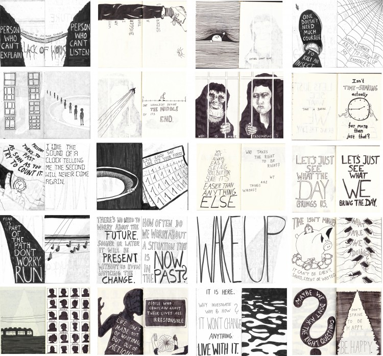 Four Years Worth of Doodles & Lettering Laid Out | Doodlers Anonymous