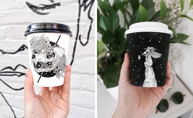 A Hand Drawn Cup-folio That'll Knock Your Socks Off! | Doodlers Anonymous