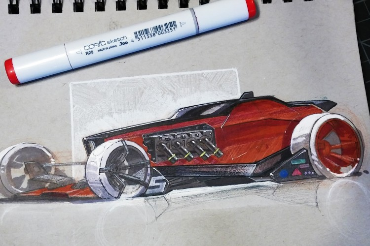 Drawing Mech Designs and Futuristic Car Designs | Doodlers Anonymous