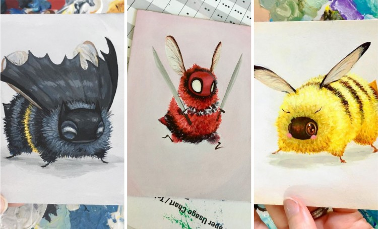 Pop Culture Characters Come to Life as Bees