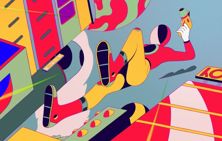 Watch This Colorful, Beautifully Illustrated,  Retro Sci-Fi Short Film | Doodlers Anonymous