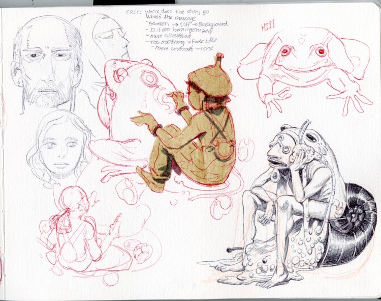 A Look Inside Julie Benbassat's Sketchbook | Doodlers Anonymous