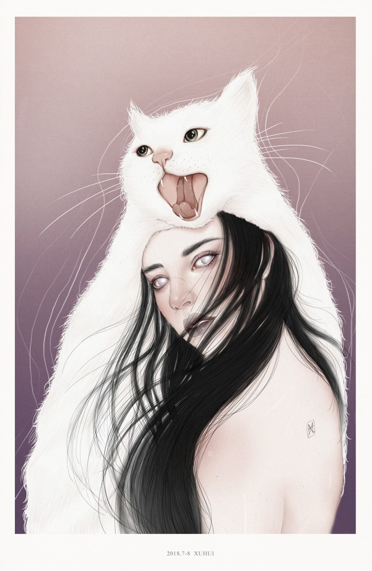 The Combined Art of Females and Felines | Doodlers Anonymous