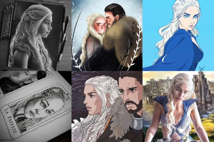 The Mother of Dragons, Daenerys Targaryen, Drawn in Many Different Styles