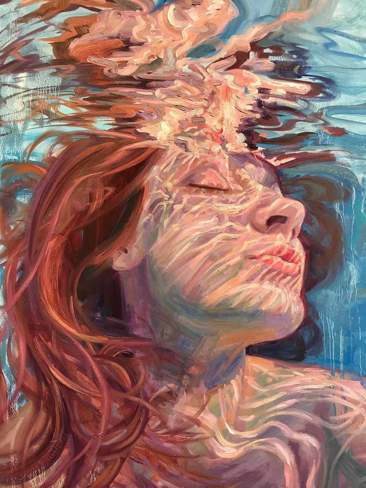 Paintings of Women Submerged in Water