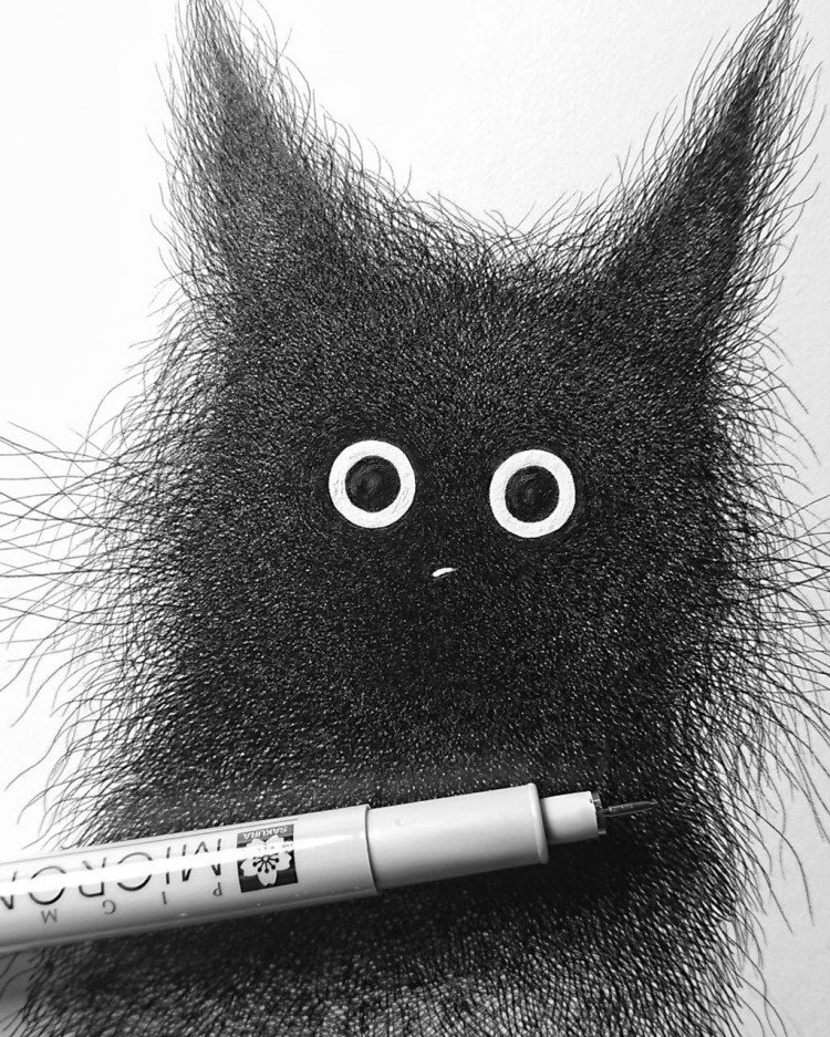 This Artist is Using Elaborate Line Work to Call Forth Your Inner Child