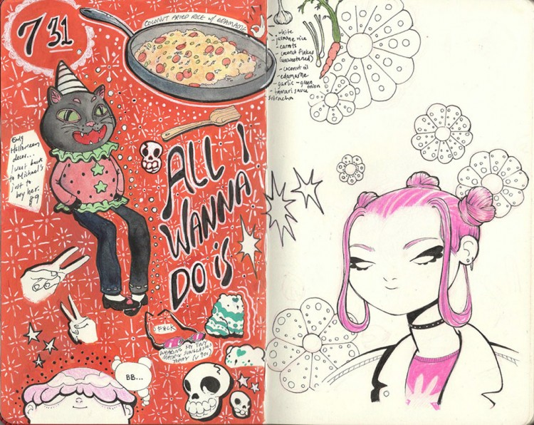 A Look Inside of Lauren Rodriguez's Sketchbook | Doodlers Anonymous