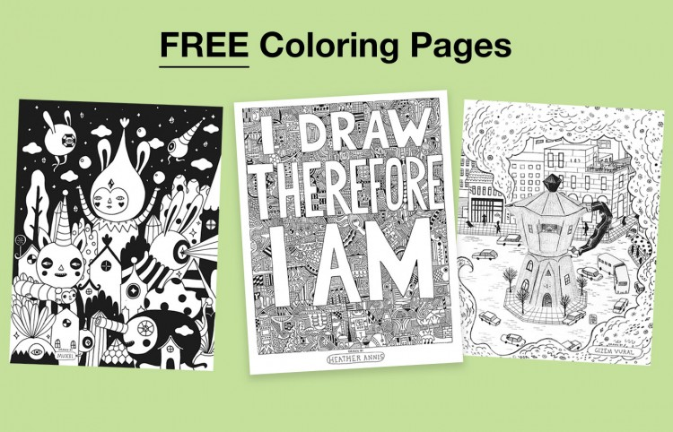 Free Coloring Pages for All | Doodlers Anonymous