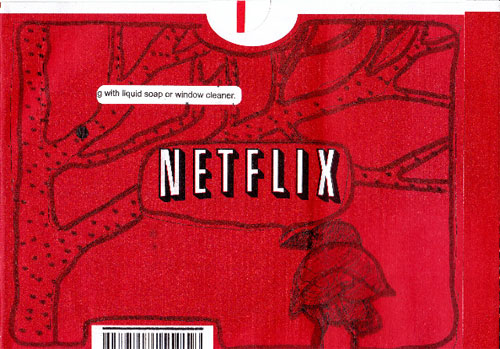 Netflix Envelope Doodle by Sherry Thurner
