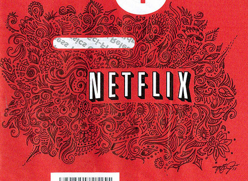 Netflix Envelope Doodle by Julie Zarate
