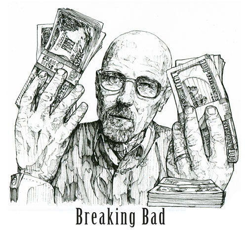 Drawn Walter White by Alfie Cuban