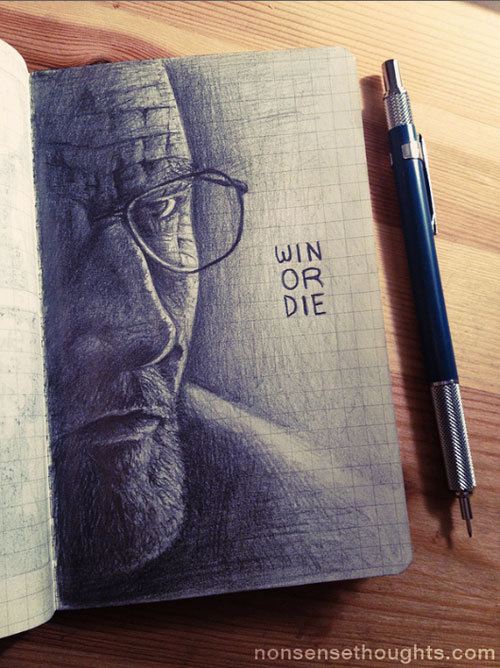 Drawn Walter White by Chris Collins