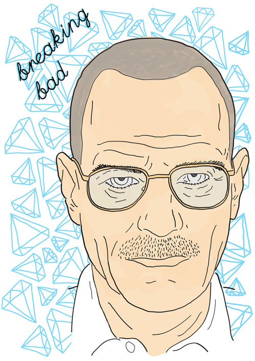 Drawn Walter White by Christopher Mann