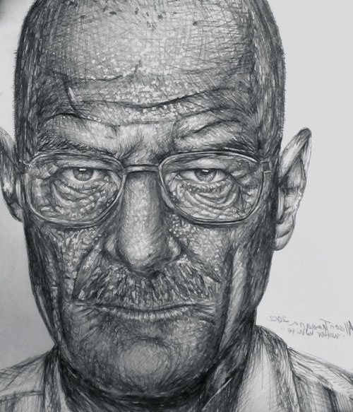 Drawn Walter White by drjekl134