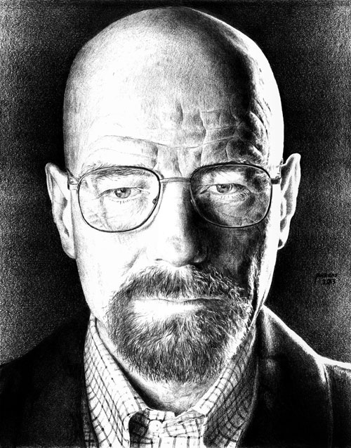 Drawn Walter White by Fallingdark