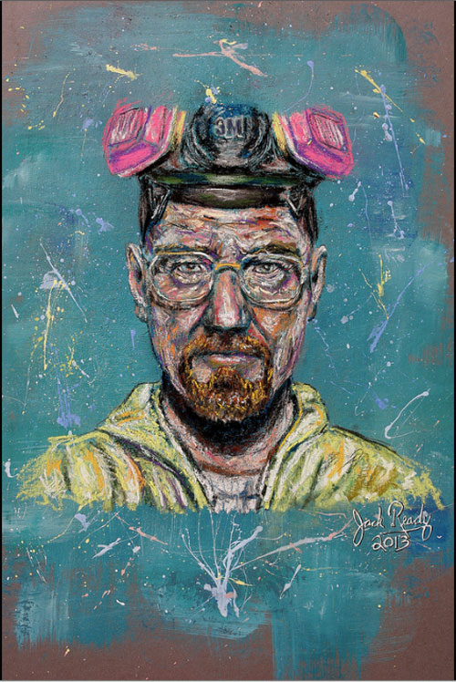 Drawn Walter White by Jack Ready