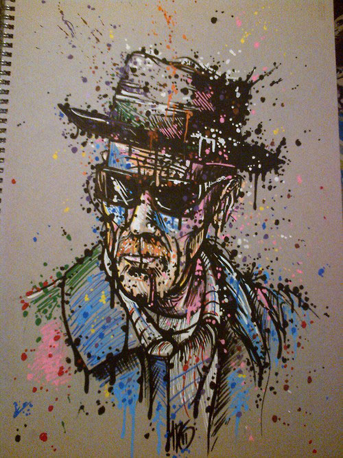 Drawn Walter White by Maxybloodline