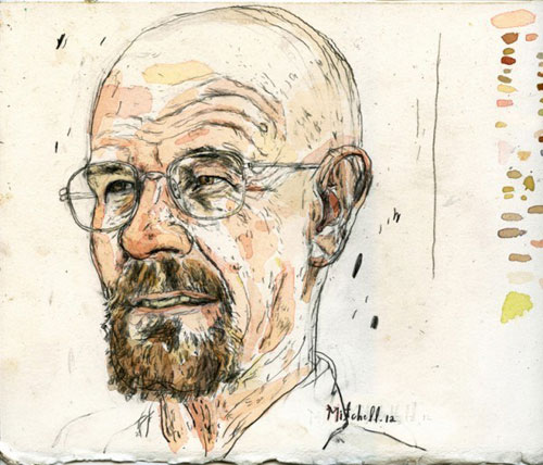 Drawn Walter White by Peter Mitchell