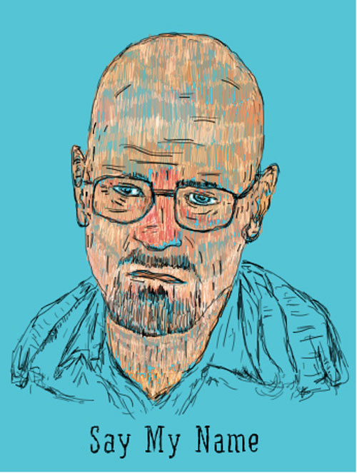 Drawn Walter White by Shachar Bechor