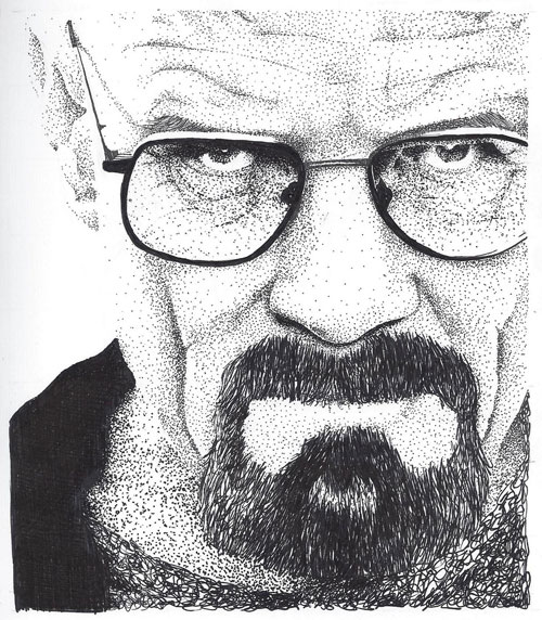 Drawn Walter White by Telescreenager