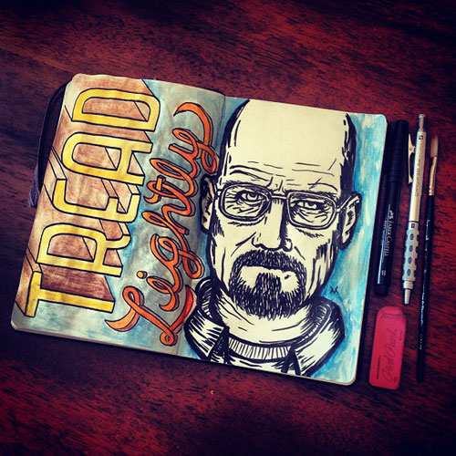 Drawn Walter White by Victor Melendez