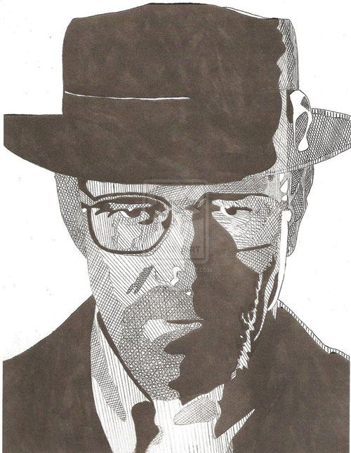 Drawn Walter White by Warrior Cheetah