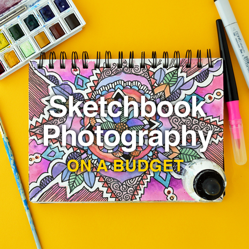 How to Photograph Your Sketchbook on a Budget